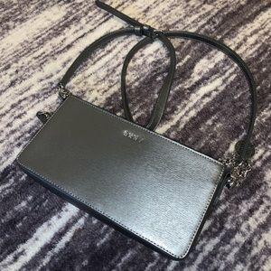 grey DKNY bag